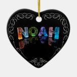 El Noah conocido - nombre en las luces (fotografía Ornaments Para Arbol De Navidad