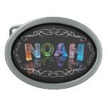 El Noah conocido - nombre en las luces (fotografía Hebillas Cinturon Ovales