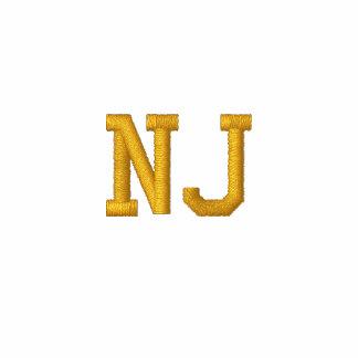 """El nombre bordado del estado """"añade su estado"""" NJ Sudadera Bordada Con Capucha"""