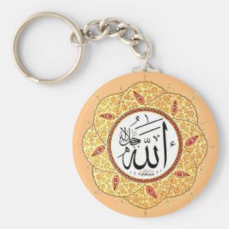 El nombre de Alá de Hafiz Osman Llavero Redondo Tipo Pin