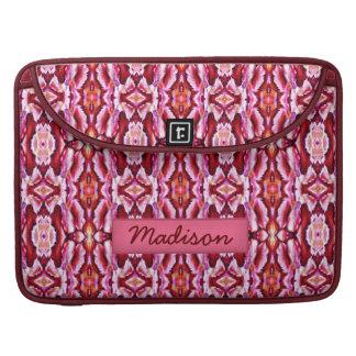 el nombre de encargo del cordón rosado femenino pe funda para macbooks