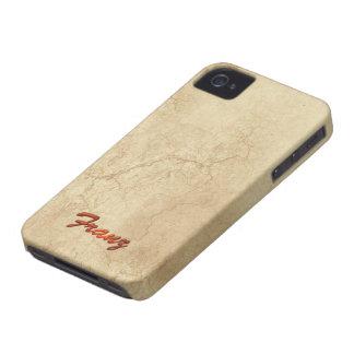 El nombre de FRANCISCO personalizó la caja del tel iPhone 4 Case-Mate Cárcasa