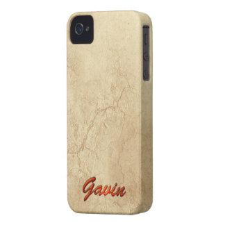 El nombre de GAVIN personalizó la caja del Case-Mate iPhone 4 Cobertura