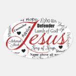El nombre de Jesús Calcomania Ovalada