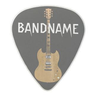 el nombre de la banda, roca, negra plectro de acetal