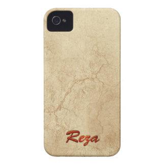 El nombre de REZA personalizó la caja del teléfono iPhone 4 Case-Mate Cobertura