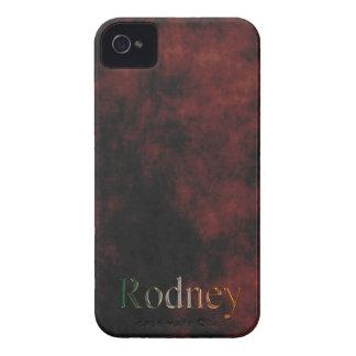 El nombre de RODNEY personalizó la caja del teléfo Case-Mate iPhone 4 Coberturas