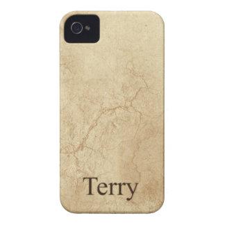 El nombre de TERRY personalizó la caja del teléfon iPhone 4 Cobertura