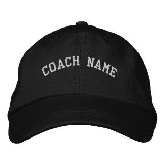 El nombre del coche personalizó negro bordado del  gorra de beisbol
