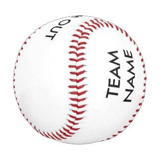 El nombre del equipo y pega hacia fuera béisbol