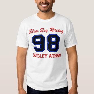 El nombre del muchacho de Wesley lento del frente Poleras