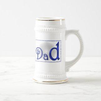 El nombre del papá jarra de cerveza