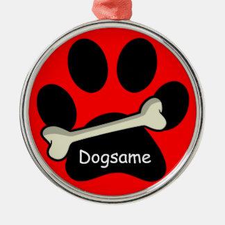 El nombre del perro de encargo de la impresión y d ornamento para reyes magos