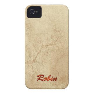 El nombre del PETIRROJO personalizó la caja del te Case-Mate iPhone 4 Cobertura
