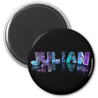 El nombre juliano en 3D se enciende (la fotografía Imanes Para Frigoríficos