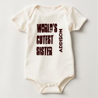 El nombre más lindo del personalizado de la body para bebé