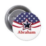 El nombre patriótico marca los botones del nombre pin