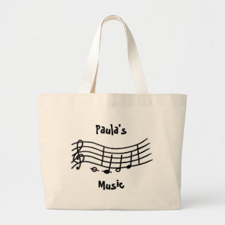 El nombre personalizado, música observa la escala  bolsa tela grande