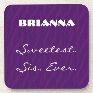 El nombre siempre púrpura más dulce del posavasos