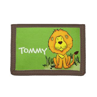 El nombre verde gráfico animal del león embroma la