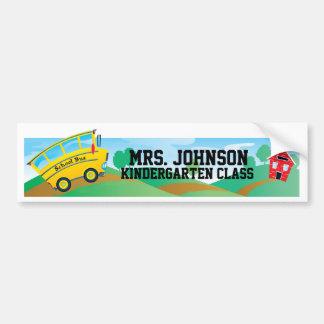 El nombre y sala de clase - pegatina del profesor  etiqueta de parachoque