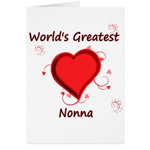 El nonna más grande del mundo tarjeta de felicitación