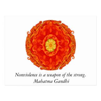 El Nonviolence es un arma del fuerte. - Gandhi Postales