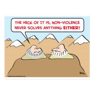 el nonviolence nunca soluciona cualquier cosa tarjetas postales