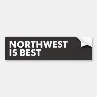 El noroeste es el mejor pegatina para auto