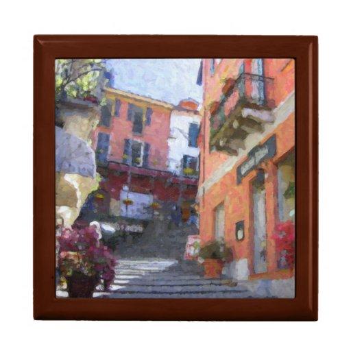 El norte de las cajas de regalo de Italia Bellagio Joyero Cuadrado Grande