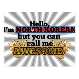El North Korean, pero me llama impresionante Tarjetas Postales