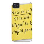 Él-Nota del poste al uno mismo iPhone 4 Case-Mate Carcasa