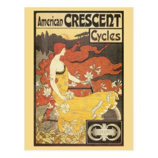 El nouveau del arte del vintage monta en bicicleta tarjetas postales