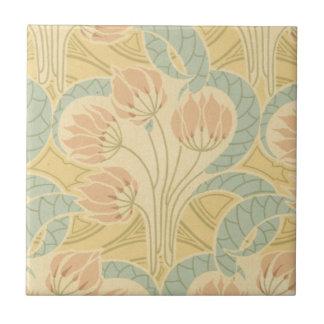 el nouveau del arte elegante florece floral azulejo cuadrado pequeño