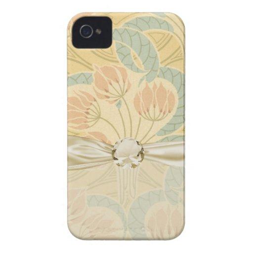 el nouveau del arte elegante florece floral Case-Mate iPhone 4 cárcasas