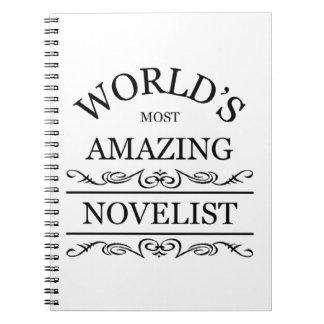 El novelista más asombroso del mundo libros de apuntes con espiral