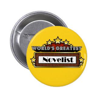 El novelista más grande del mundo pin