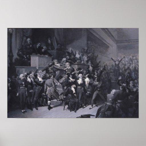 El noveno Thermidor, c.1840 Póster