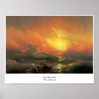 El noveno waterscape del paisaje marino de Ivan Ai Impresiones