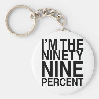 El noventa y nueve por ciento llaveros personalizados