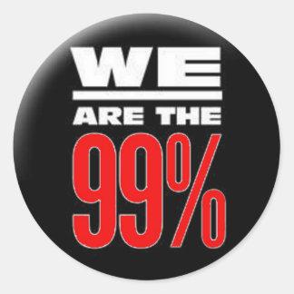 El noventa y nueve por ciento pegatina redonda