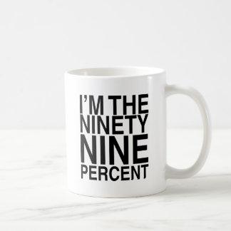 El noventa y nueve por ciento tazas de café