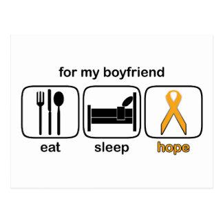 El novio come la esperanza del sueño - leucemia postales