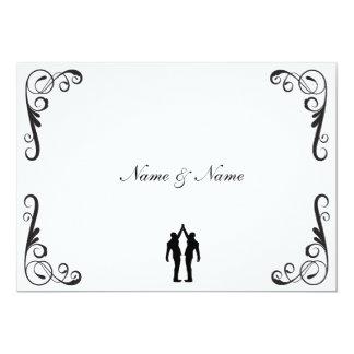 El novio gay y el boda del novio invitan invitación 12,7 x 17,8 cm