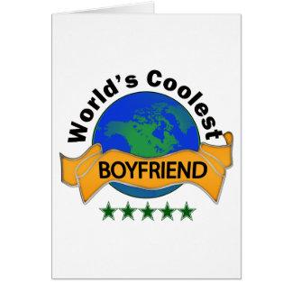El novio más fresco del mundo tarjeta de felicitación