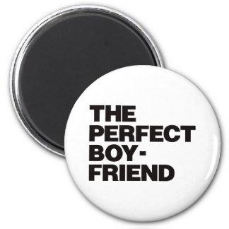 El novio perfecto - negro imán redondo 5 cm