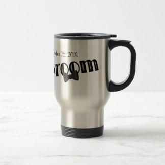 El novio personalizó la taza de café del viaje del