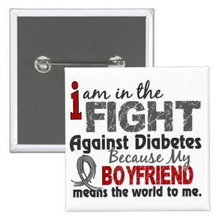 El novio significa el mundo a mí diabetes pin cuadrado