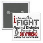 El novio significa el mundo a mí diabetes pins