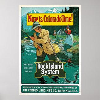 El Now es anuncio del viaje del vintage del tiempo Posters